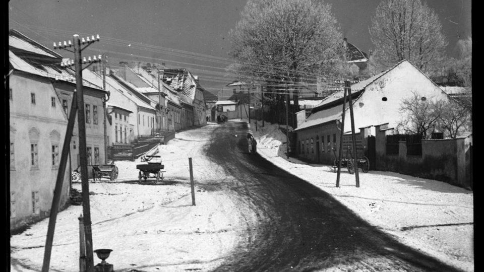 Jihlava, čistota ulic, dobová fotografie