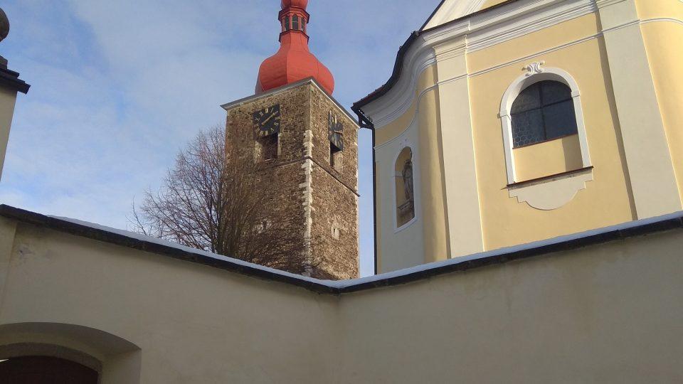 Přibyslav, kostel a věž