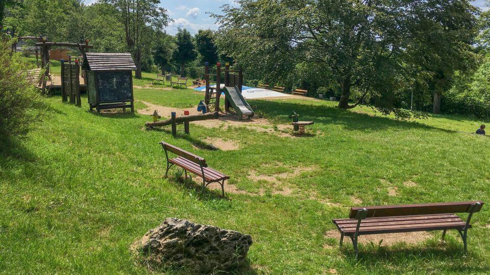 Dětské hřiště v Lázních Kynžvart