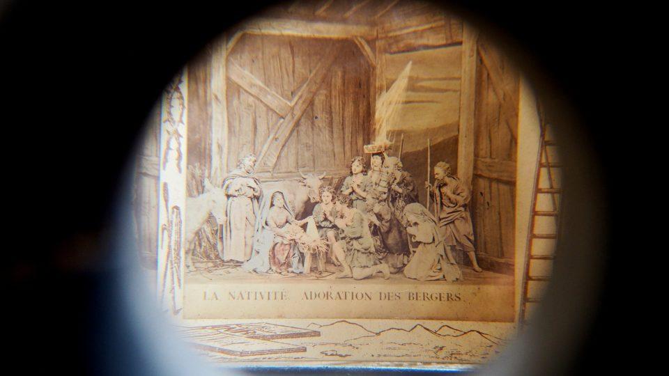 Prohlídková trasa v klášteře Nová Říše, stereoskop