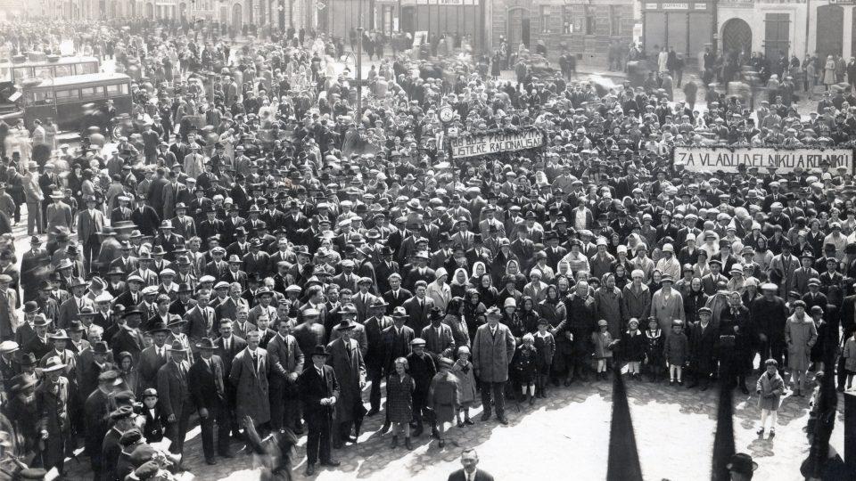 Tábor lidu na Karlově náměstí v roce 1924 se konal u příležitosti 1. celostátního srazu Spartakových skautů práce, tedy komunistické skautské organizace