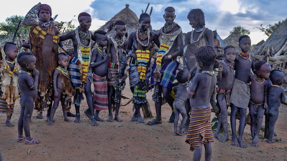 Domorodý kmen v Etiopii