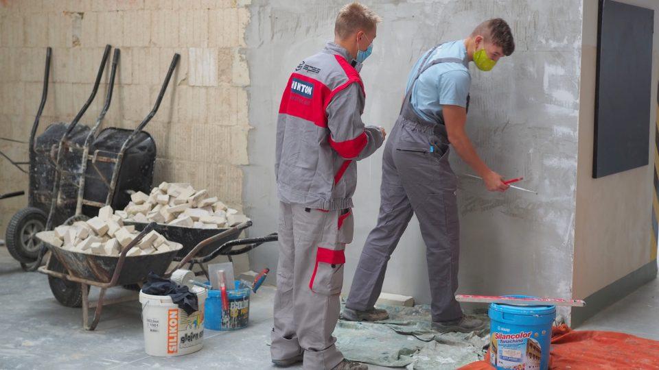 Střední průmyslová škola stavební, Havlíčkův Brod, zedníci