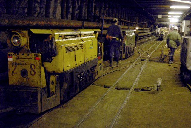 Uranový důl Rožná I na Vysočině - jedna z hlavních chodeb