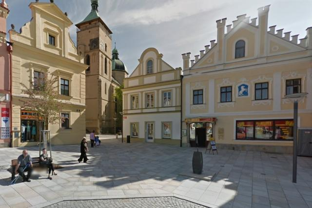 Farní kostel v Havlíčkově Brodě, pohled z náměstí