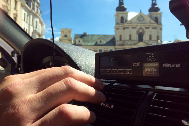 Taxi v Jihlavě, ilustrační foto