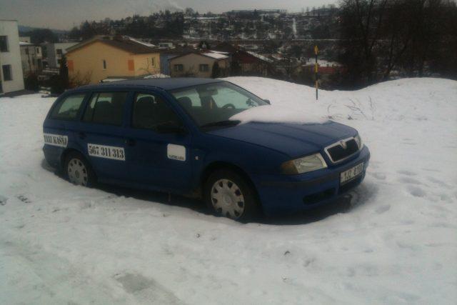 Vrak auta, Jihlava
