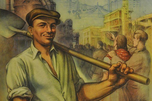 Budovatelský plakát (50. léta)
