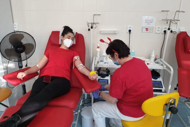Valentýnské darování krve, nemocnice Třebíč