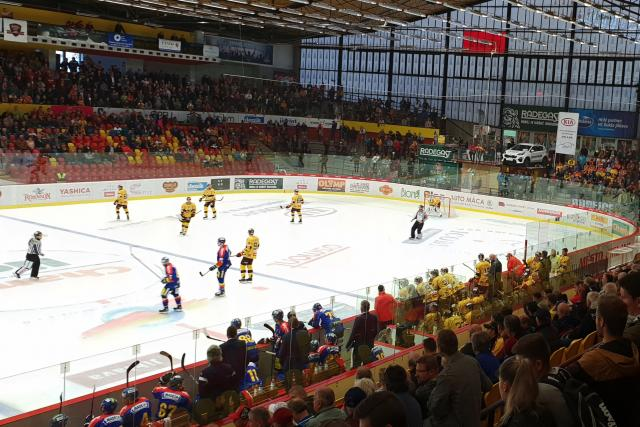 Horácký zimní stadion Jihlava,  fanoušci | foto: Dušan Vrbecký,  Český rozhlas,  Český rozhlas
