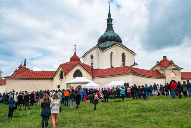 Poutní mše k sv. Janu Nepomuckému,  Žďár nad Sázavou 2021   foto: Patrik Salát,  Český rozhlas