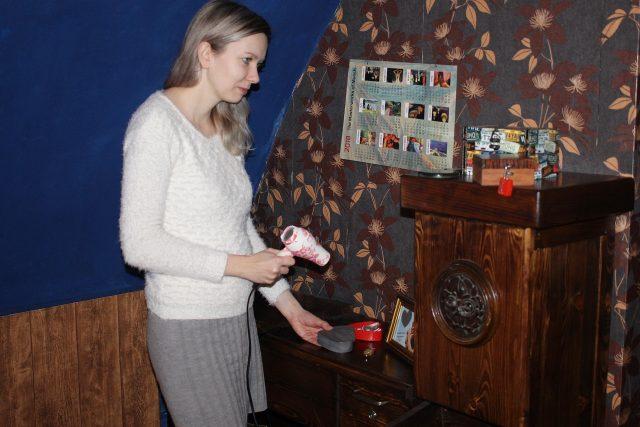 Úniková hra, Jihlava, na snímku je Michaela Padrtová
