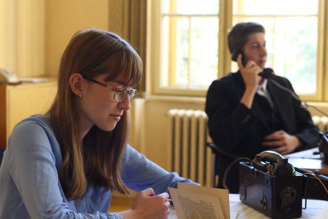 Studenti moravskobudějovického gymnázia