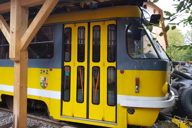 Bítovčice,  tramvaj   foto: Irena Šarounová,  Český rozhlas