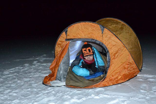 Nocování na ledě, Jihlava