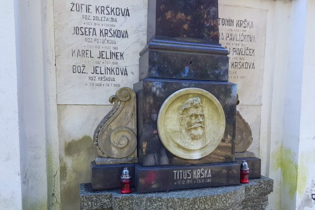 Titus Krška,  hrob | foto: Irena Šarounová,  Český rozhlas
