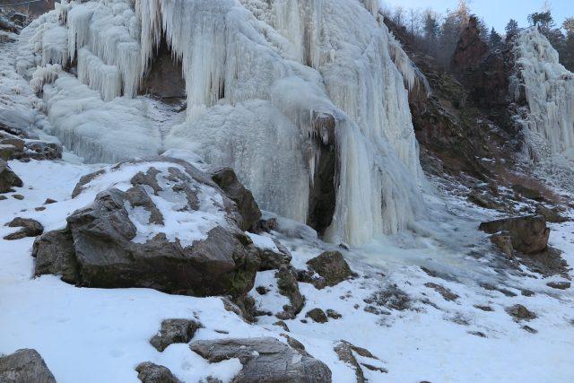 Vír (Žďársko), ledová stěna