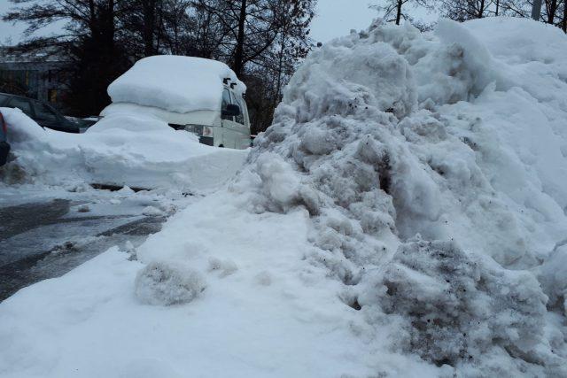 Hromady sněhu, Žďár nad Sázavou