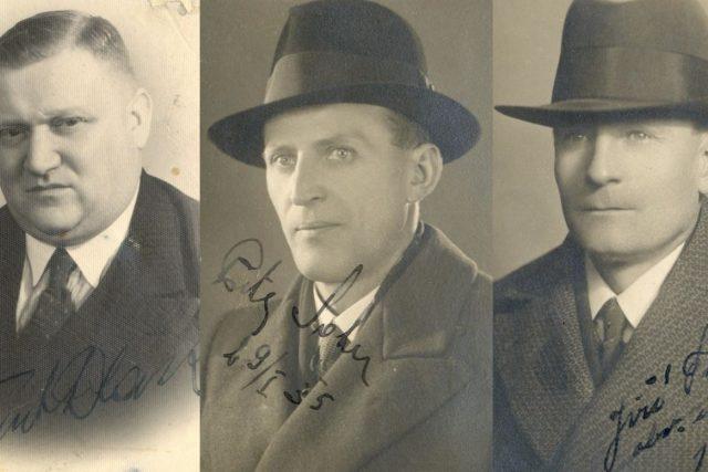 Kapsářská brigáda: František Dlask, Petr Salač, Jiří Tuček